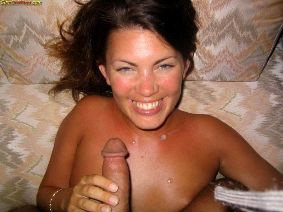 amateur nude facial - Amateur MILF cumshots in home from Cum On Wives