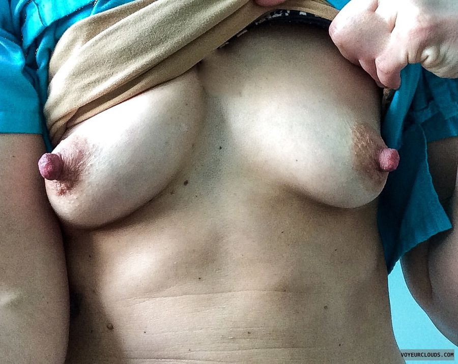 Very large nipples