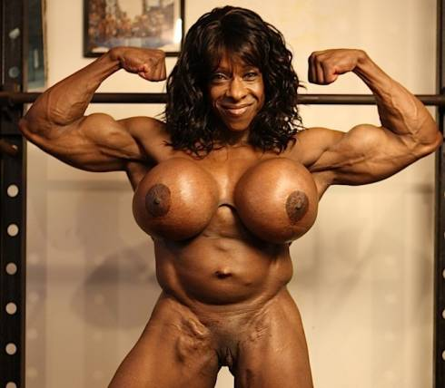 Bath naked body building women