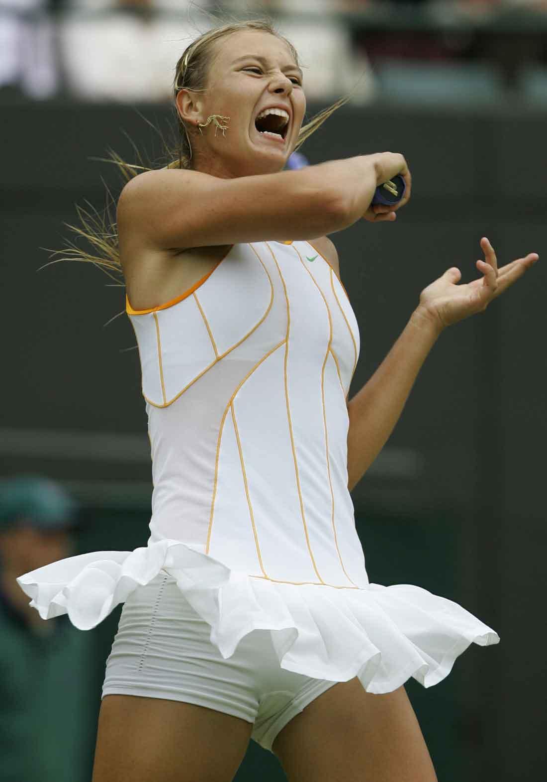 So? Tennis maria sharapova panties that