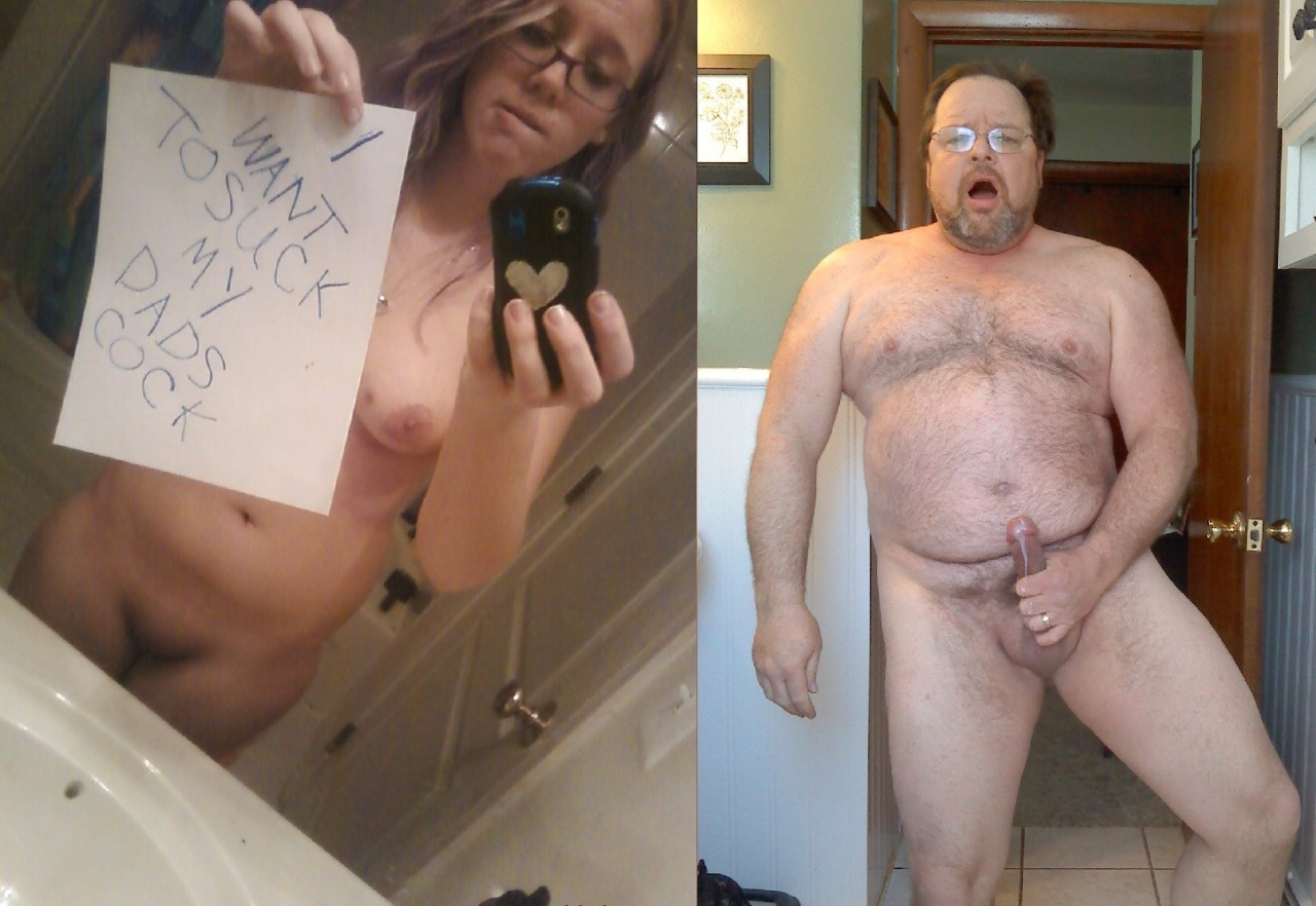 Dad and daughter naked