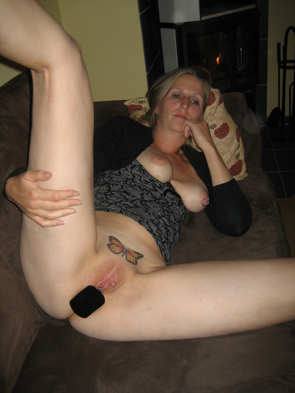 Shaved pussy with landing strip