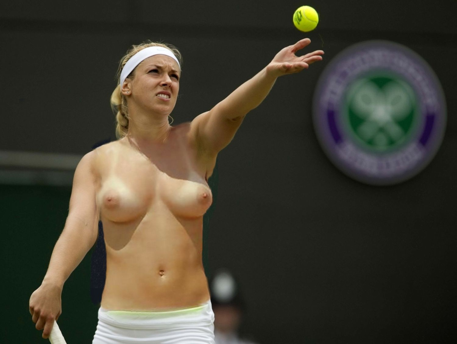 topless female tennis stars