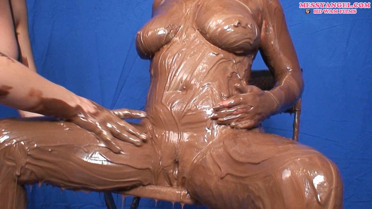 Idea naked woman covered in food