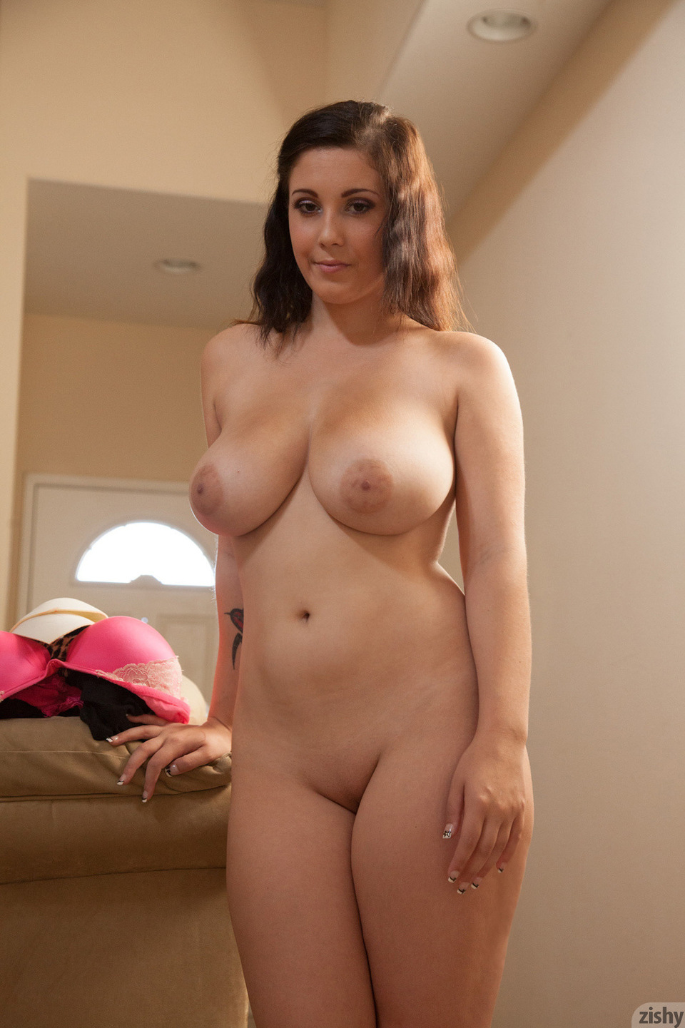 mom flashing on naked boob