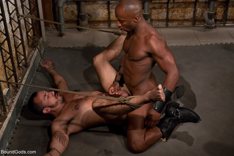 Gay interracial bondage