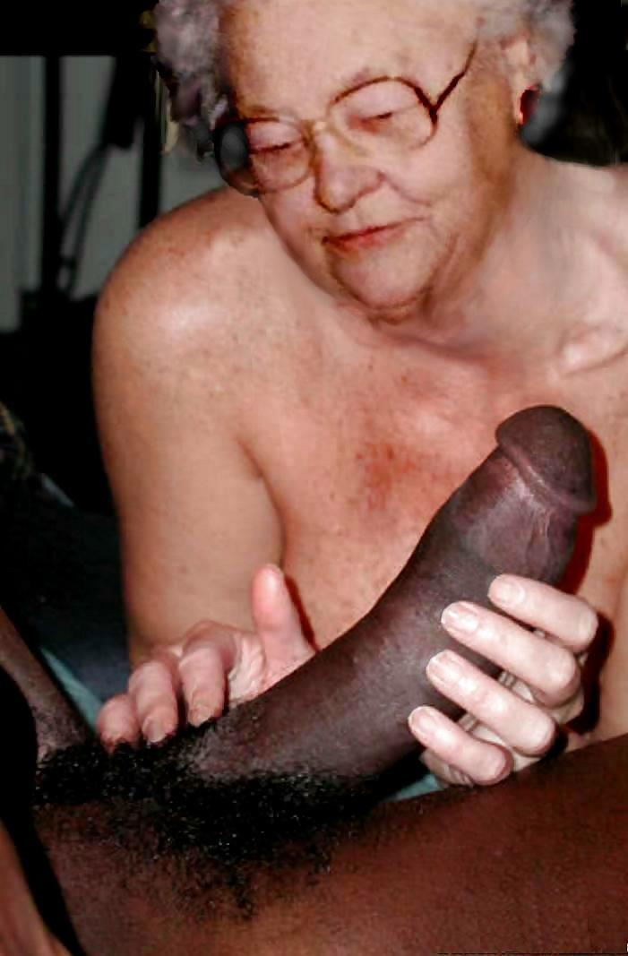 Granny monster dick