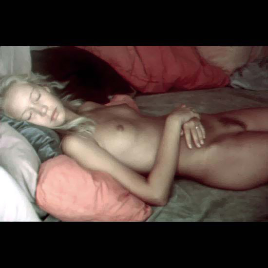 skinny blondes sleeping nude
