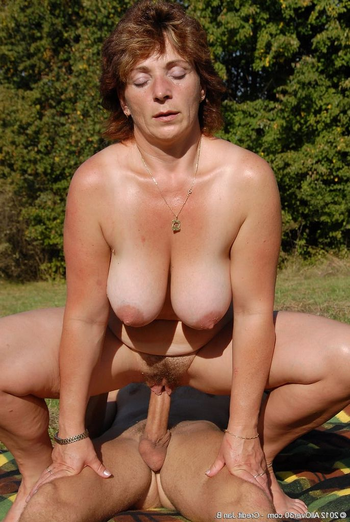 Tempting Old mature granny outdoors confirm. was