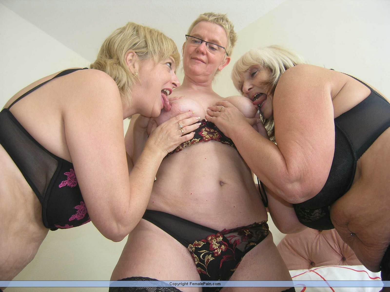 Tied Up Lesbian Threesome