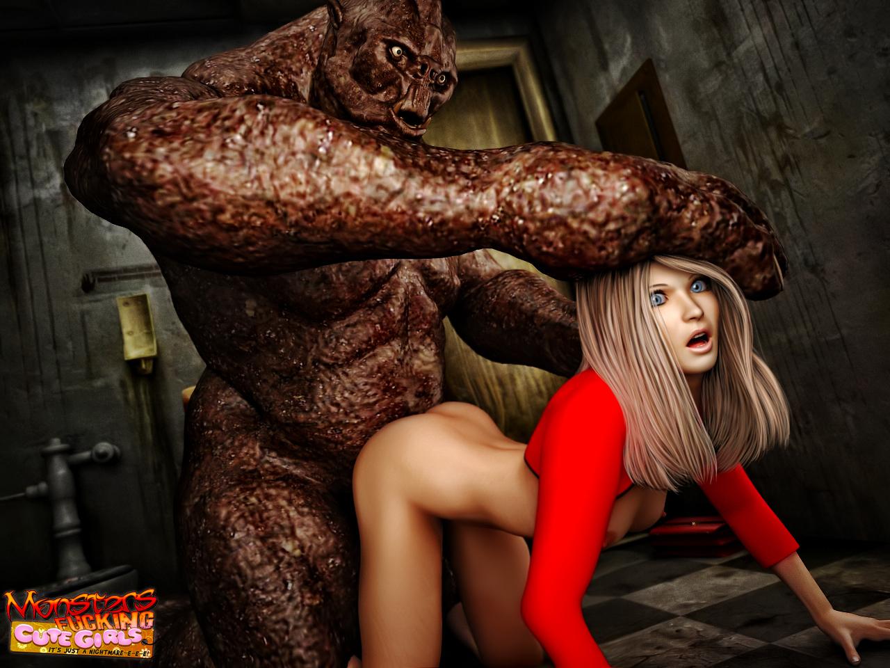 3d Monster Sex Girl - Monster nude
