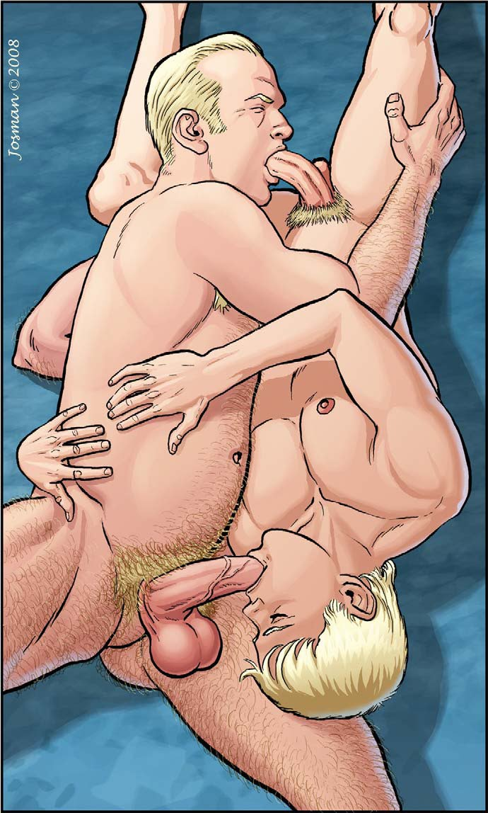Exclusive gay sex art and adult gay comics