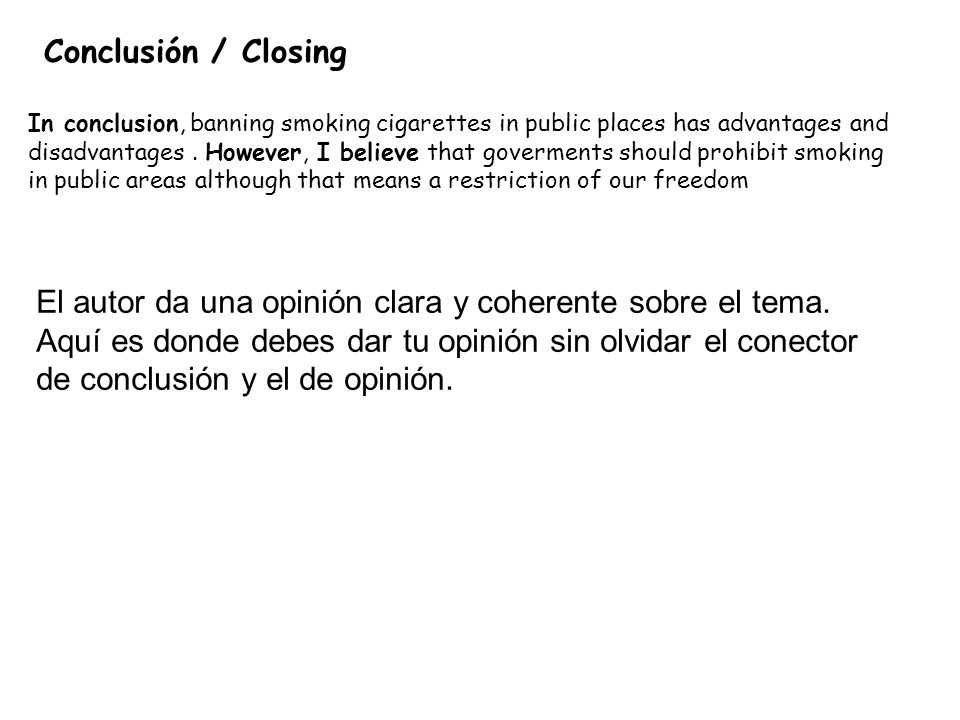 letter to the editor about banning smoking in public places But smoking bans in public places that protect children from secondhand smoke are a reasonable response to a real threat  submit a letter to the editor letters to the editor on topics of.