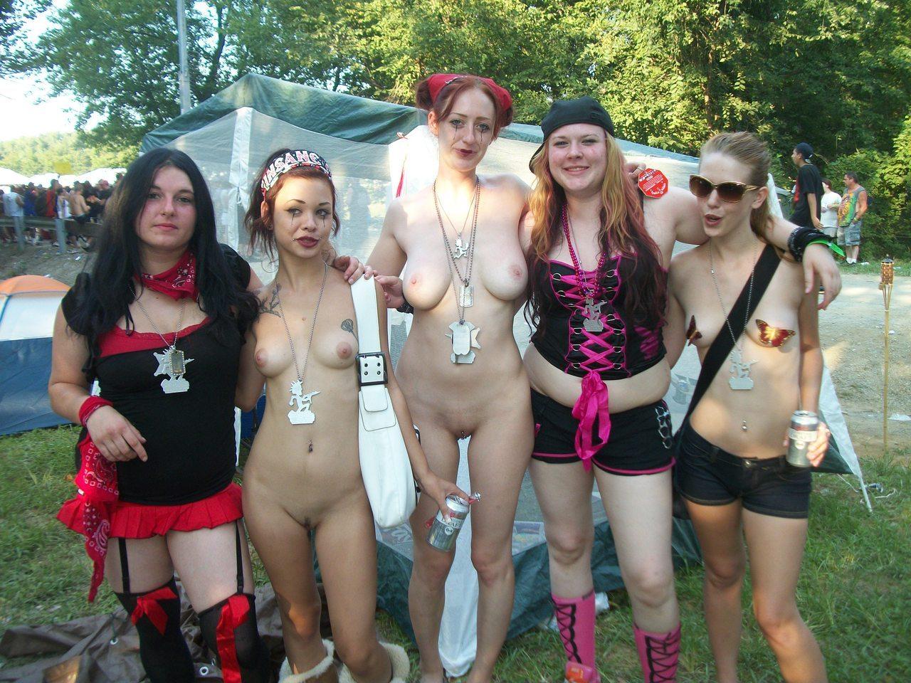 largest gathering of nude girls