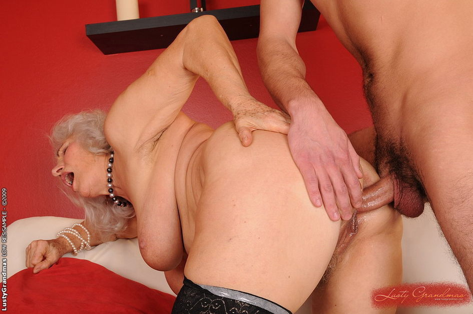 mature granny sucks boy