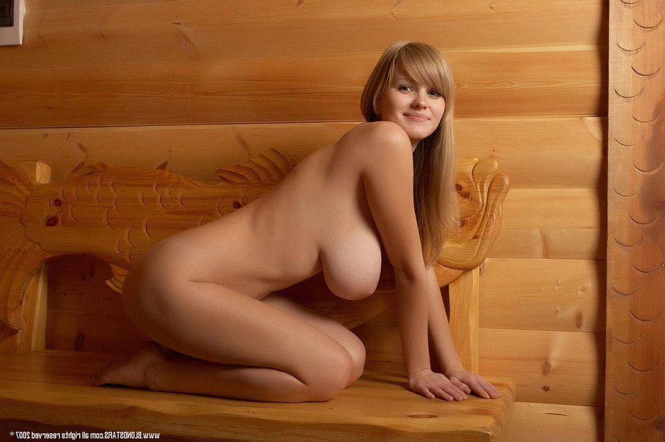 Wood fired sauna nude