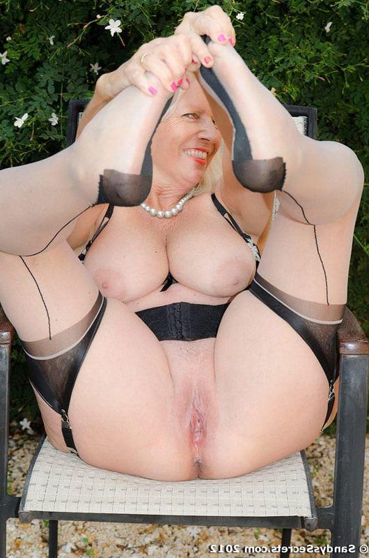 Matchless Sandy s secret nylons mature