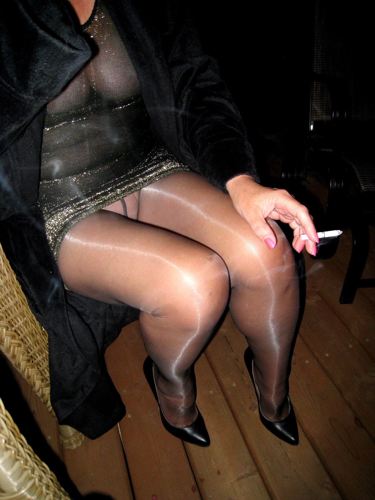 nylon stockings losing heels sex video
