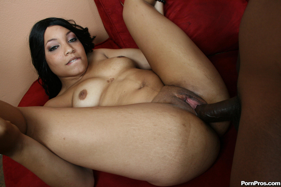Tits girl light black skin