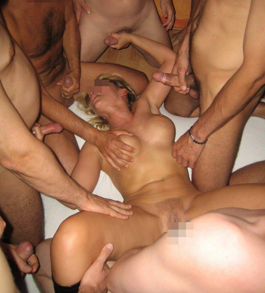 Gangbanged at party