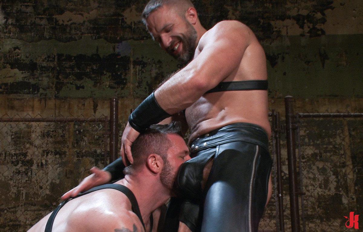 Leather porn black men in