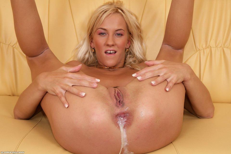 anal tumblr Blonde creampie