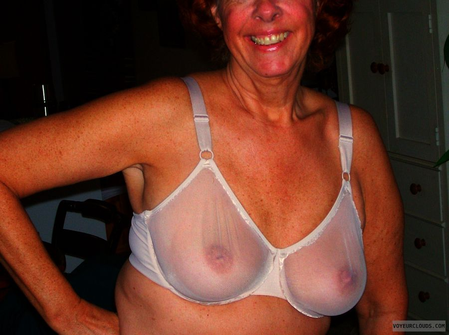 Mature wife tits in transparent something is