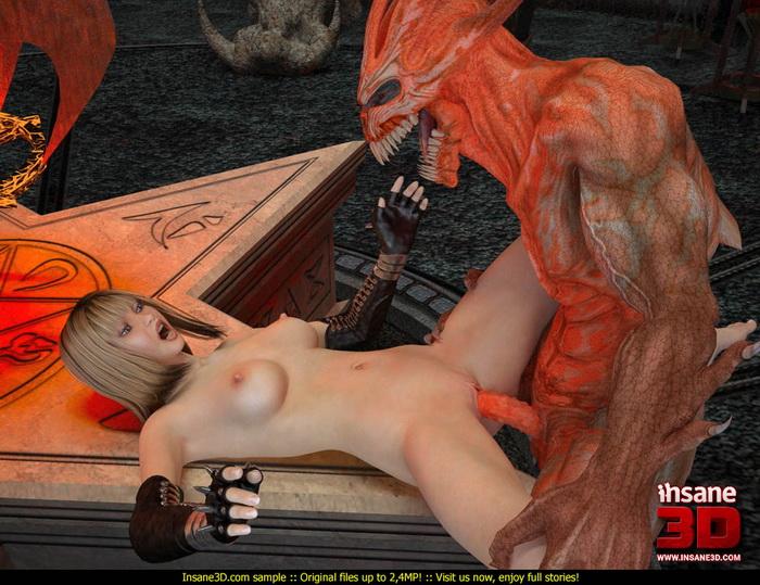 Демон 3d порно