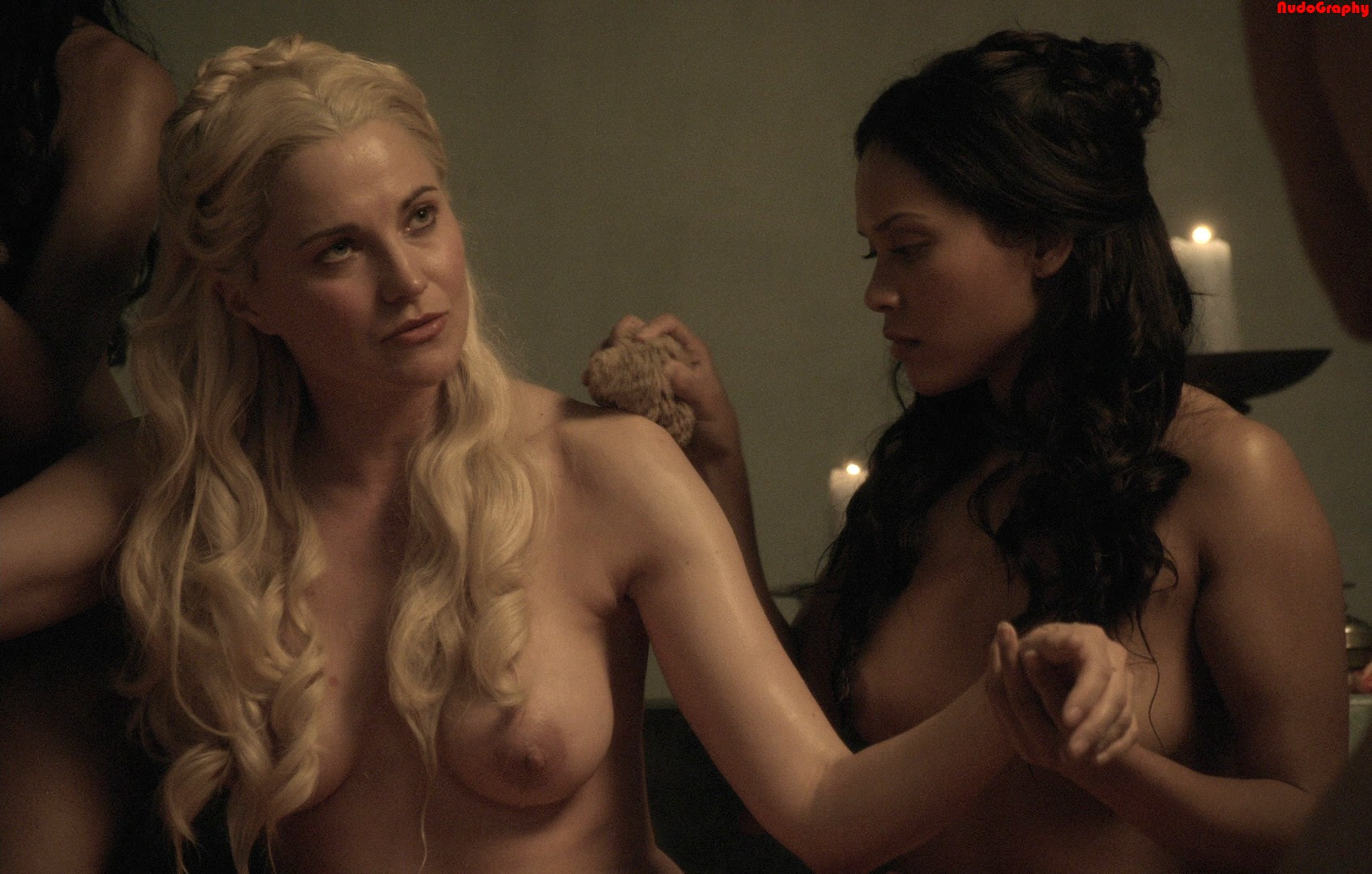 Xena actress jaime murray topless threesome in spartacus - 2 part 9